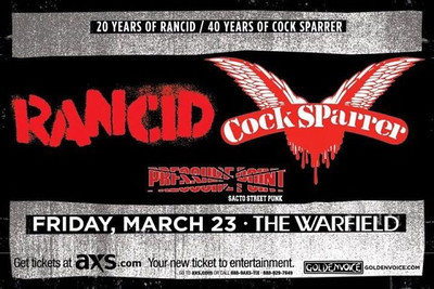 Rancid and Cock Sparrer - at The Warfield - San Francisco, CA - March 23, 2012