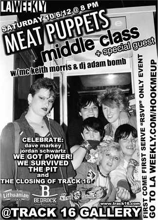 We Got Power book exhibit with Meat Puppets - Middle Class - and Frank - Track 16 Gallery - Santa Monica, CA - October 6, 2012