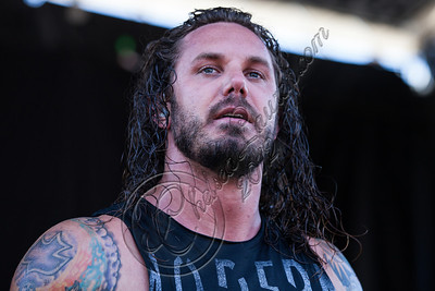 SAN BERNARDINO, CA - JUNE 30:  Vocalist Tim Lambesis of As I Lay Dying performs at the Rockstar Energy Drink Mayhem Festival at San Manuel Amphitheater on June 30, 2012 in San Bernardino, California.  (Photo by Chelsea Lauren/Getty Images)