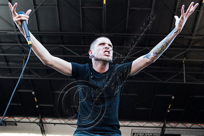 SAN BERNARDINO, CA - JUNE 30:  Vocalist Phil Bozeman of Whitechapel performs at the Rockstar Energy Drink Mayhem Festival at San Manuel Amphitheater on June 30, 2012 in San Bernardino, California.  (Photo by Chelsea Lauren/Getty Images)