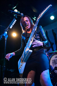 Lzzy Hale of Halestorm performs on November 16, 2012 at Slim's in San Francisco, California
