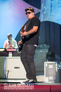Rome Ramirez (R) and DJ Rocky Rock of Sublime With Rome perform July 22, 2012 at The Greek Theater in Berkeley, California