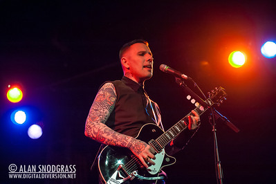 """Nick 13 of Tiger Army performs on October 21, 2012 during """"October Flame V""""  at the Catalyst in Santa Cruz, California"""
