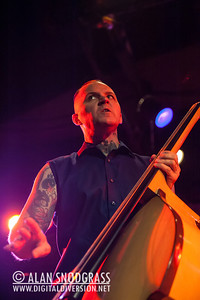 """Geoff Kresge of Tiger Army performs on October 21, 2012 during """"October Flame V""""  at the Catalyst in Santa Cruz, California"""