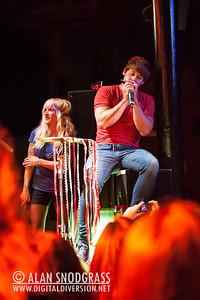 Ryan Marshall and Sarah Blackwood of Walk Off The Earth perform June 15, 2012 at Slim's in San Francisco, California
