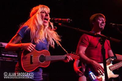 Sarah Blackwood and Ryan Marshall of Walk Off The Earth performs June 15, 2012 at Slim's in San Francisco, California