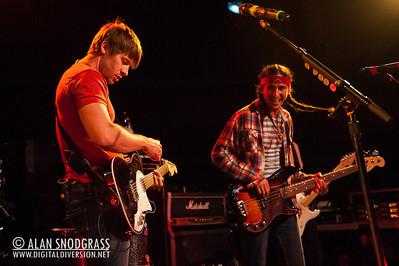 Ryan Marshall and Gianni Luminati of Walk Off The Earth perform June 15, 2012 at Slim's in San Francisco, California