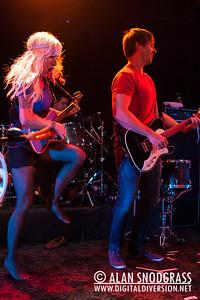 Sarah Blackwood and Ryan Marshall of Walk Off The Earth performsJune 15, 2012 at Slim's in San Francisco, California
