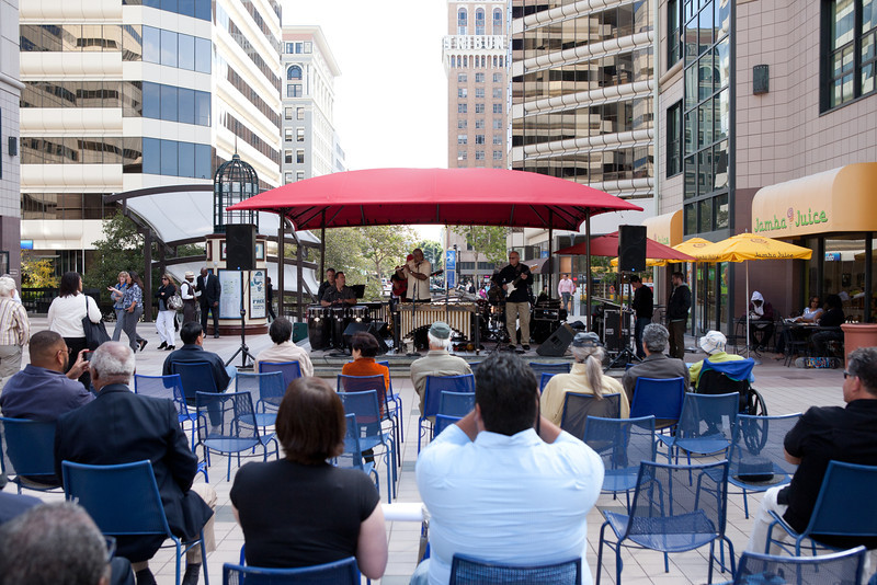2012.09.19 Oakland City Center Celebrating the Arts Concerts-Roger Glenn Latin Jazz Ensemble