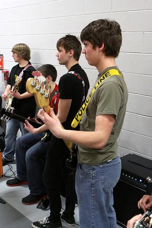Pep Band @ Boys Varsity Basketball - 1/10/2014 Ludington