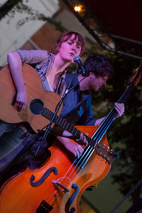Amanda Anne Platt and Rick Cooper of The Honeycutters, on the Martin Street stage.
