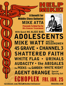 Mike Atta Benefit Show - at The Echoplex - Los Angeles, CA - January 25, 2013