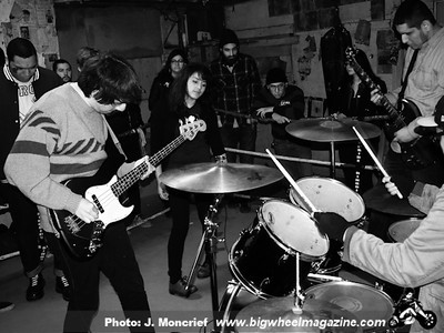 Replica - Permanent Ruin - Mobius Dick - and Wallflower - at Munoz Gym - Bakersfield, CA - January 1, 2013