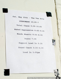 Subhumans - Total Chaos - Naked Agression - and Mundo Muerto - at The Vex - Los Angeles, CA - May 25, 2013