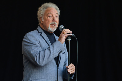 Tom Jones performs for Agit8 2013 - 13/06/13