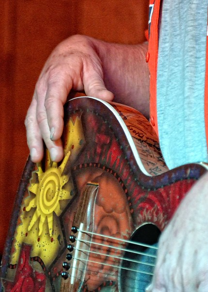 Walt's guitar hand-painted by Dan Taylor