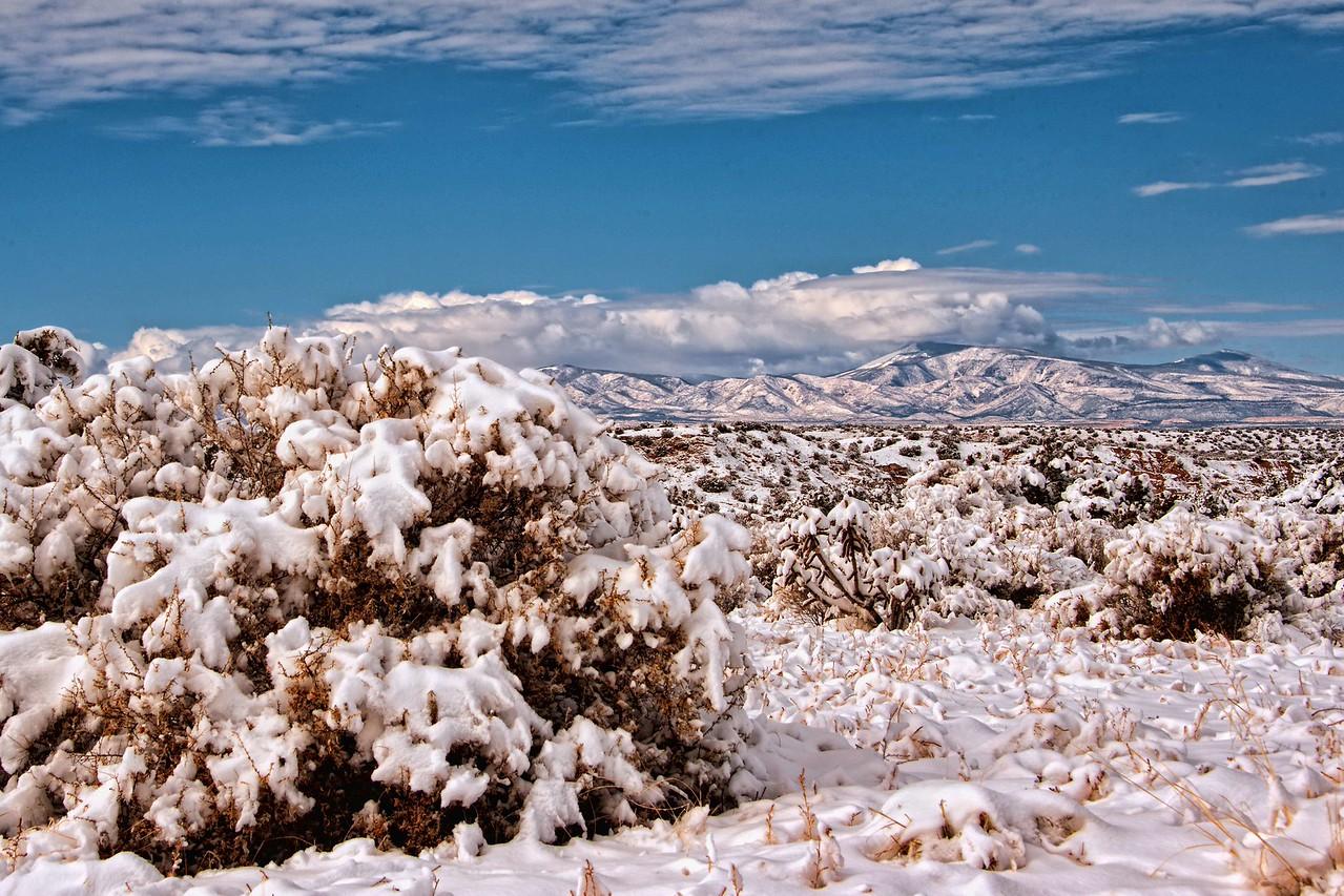 Santa Fe winter wonderland