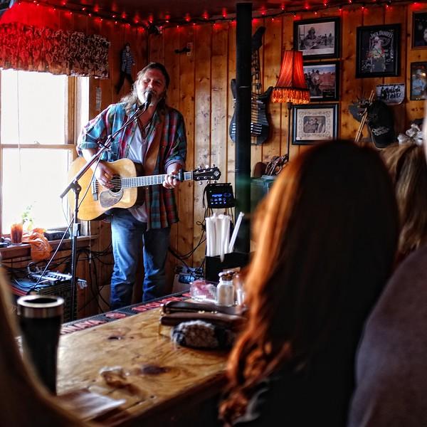 Walt Wilkins breakfast show at the Lost Love Saloon