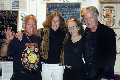 "Eva Strauss-Rosen, second on left and John Teglgaard, right at Birdland Jazzista Social Club - ""Yacine Kouyate and the sounds of Mali"""