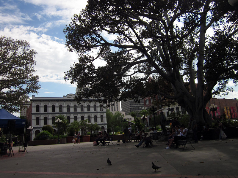 Los Angeles' old town plaza -next to Olvera St just across the Alameda from Union Station
