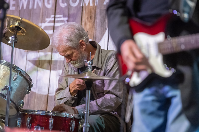 The Bloomington Blues Jam, featuring King Bee and the Stingers as hosts, on Tuesday, Oct. 13, 2020 at Switchyard Brewing Company in Bloomington, IN. (Photo/Alex Kumar)