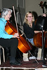 Cello Student Casey with Master Class Instructor Emily Wright