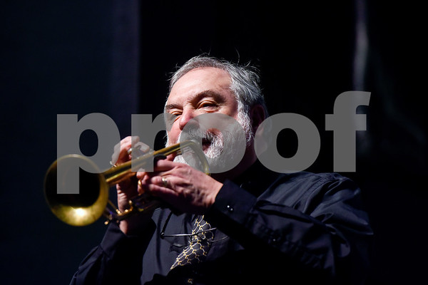 Vince DiMartino plays during Tyler Junior College's Jazz Festival at Wise Auditorium in Tyler, Texas, on Thursday, March 1, 2018. Special guest artists were DiMartino on trumpet and George Faber on piano. (Chelsea Purgahn/Tyler Morning Telegraph)