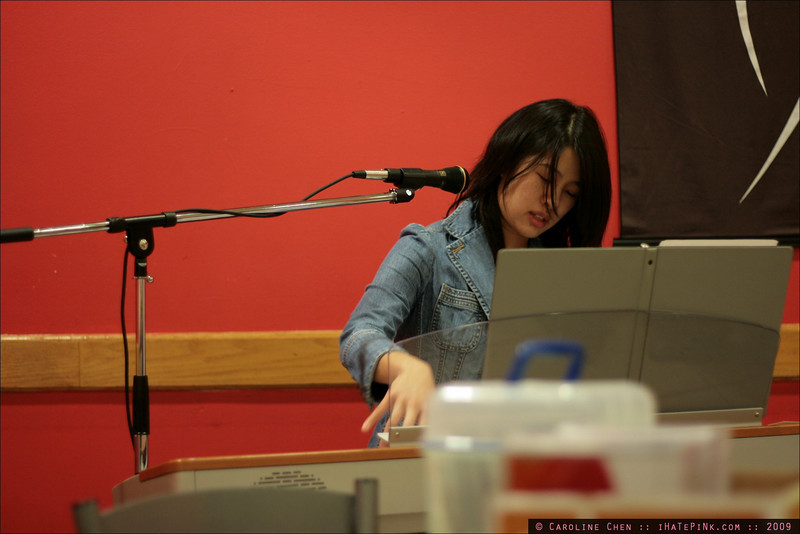 Iris playing intensely.