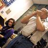 Tina Bergmann and Dave Rice at  Around Town.