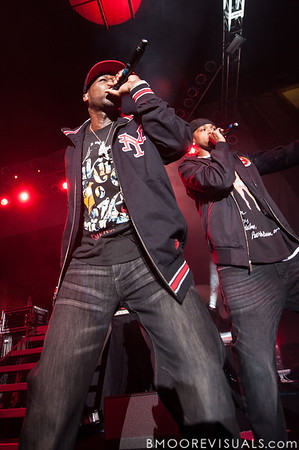 50 Cent and Lloyd Banks perform at Jannus Live in St. Petersburg, Florida on June 16, 2010.