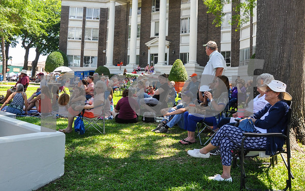 People of all ages gathered with lawn chairs and blankets to enjoy the 87th Annual Old Fiddlers Contest & Reunion in Athens on Saturday, May 26. (Jessica T. Payne/Tyler Paper)