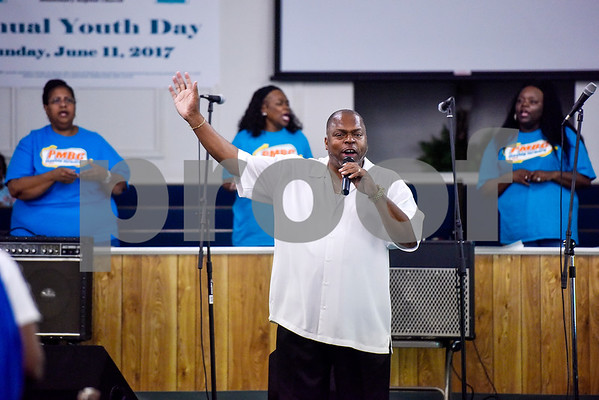 Derrick Choice sings during the ninth annual gospel musical explosion at People's Missionary Baptist Church in Tyler, Texas, on Friday, June 16, 2017. The evening of music featured singers from around Northeast Texas. (Chelsea Purgahn/Tyler Morning Telegraph)