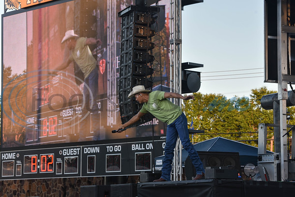 Country music star and Jacksonville native Neal McCoy performs at the newly renovated Tomato Bowl on Friday, June 7. The performance was free to the public as part of the Grand Re-Opening and Ribbon Cutting of the historic stadium. (Jessica T. Payne/Tyler Morning Telegraph)