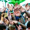 The crowd waves to the sound of Man Man. Montgomery Media staff photo / DUTCH GODSHALK