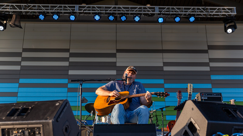 Kyle Bledsoe at the 8th Annual Blues Fest at the Nickel Plate District Amphitheater in Fishers, Indiana, on September 5, 2020. Photo by Tony Vasquez