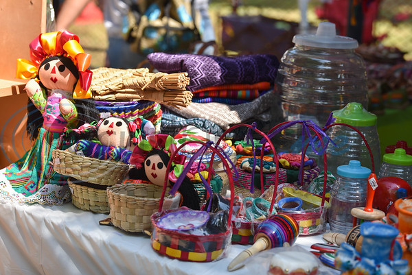 Latin toys and keepsakes were on display at Palestine's Latin Heritage Music Festival on Saturday, September 14. The first-time festival was held in Old Town Palestine to celebrate National Hispanic Heritage Month which runs from September 15 to October 15. (Jessica T. Payne/Tyler Morning Telegraph)