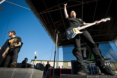 "Neil Westfall and Joshua Woodard of A Day To Remember perform in support of ""What Separates Me from You"" on December 5, 2010 during 97X Next Big Thing at 1-800-ASK-GARY Amphitheatre in Tampa, Florida"