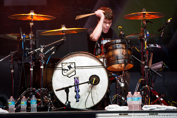 Alex Shelnutt of A Day To Remember performs on December 3, 2011 during 97X Next Big Thing at 1-800-ASK-GARY Amphitheatre in Tampa, Florida