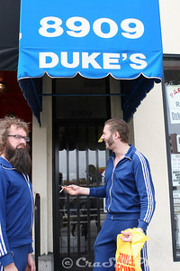 After a stop to the Tower Video store, to buy some cool American movies.  There was the obligatory stop at the local's favorite Duke's.