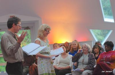 Tony Fogleman & Nancy Rubenstein Delgiudice (that's Tony's Mom in the audience pulling down her glasses)