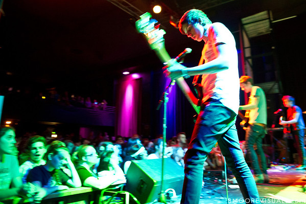 Eric Halvorsen of A Rocket To The Moon performs at State Theatre in St. Petersburg, Florida on March 24, 2010