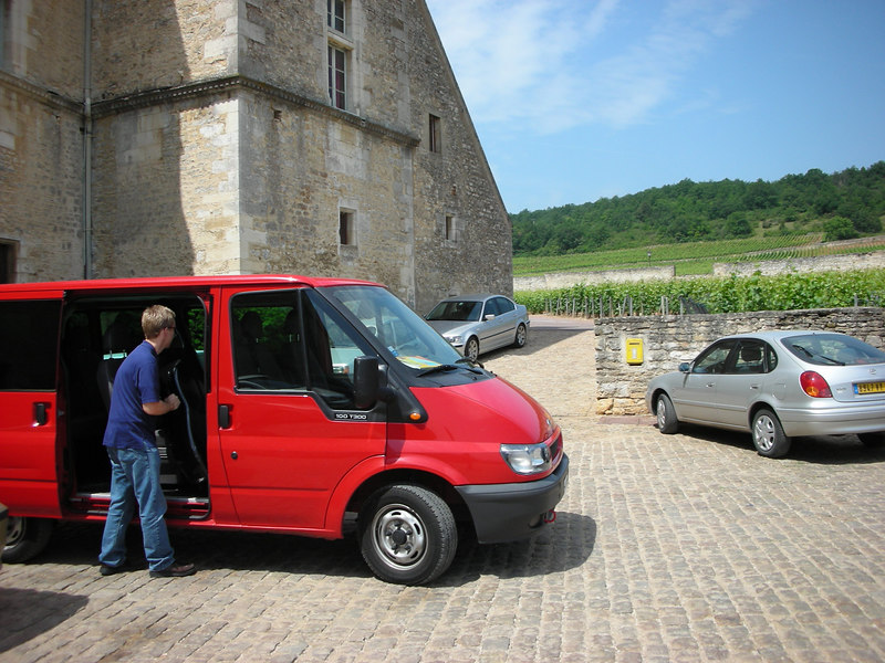 Arriving at Chateau du Clos de Vougeot for our afternoon rehearsal before the big dinner and performance.