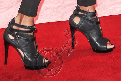 LOS ANGELES, CA - DECEMBER 14:  Rapper MC Lyte (shoe detail) attends AEG's season of giving honoring YoYo School of Hip Hop at Nokia Plaza L.A. LIVE on December 14, 2012 in Los Angeles, California.  (Photo by Chelsea Lauren/WireImage)