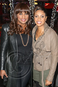 LOS ANGELES, CA - DECEMBER 14:  Rappers Yo-Yo (L) and MC Lyte attend AEG's season of giving honoring YoYo School of Hip Hop at Nokia Plaza L.A. LIVE on December 14, 2012 in Los Angeles, California.  (Photo by Chelsea Lauren/WireImage)
