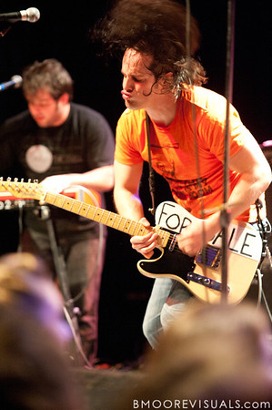 Luke Schmitt (L) and John Schmitt (R) of AM Taxi perform at State Theatre in St. Petersburg, Florida on May 10, 2010