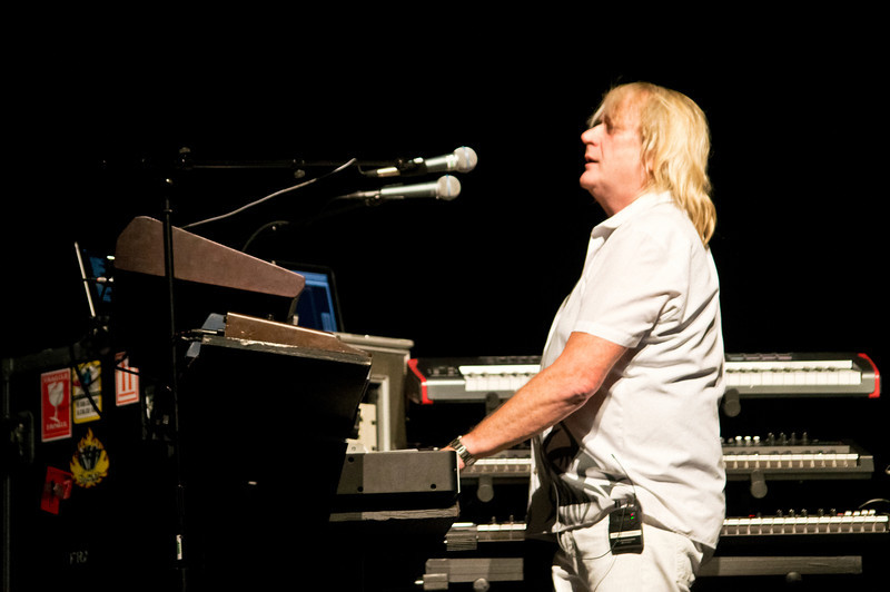"Geoff Downes of ASIA on stage at The Count Basie Theater in Red Bank, New Jersey during the 2012 World Tour. Geoff is also the co-founder and keyboard player for The Buggles, the 1980's techno pop group famous for ""Video Killed the Radio Star"" He is also the current keyboardist of YES."