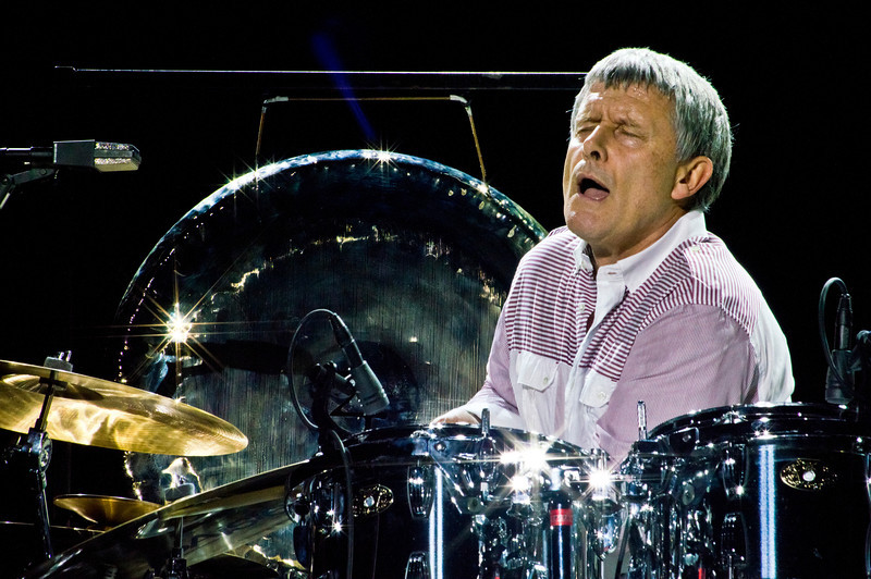 Carl Palmer of ASIA on stage at The Count Basie Theater in Red Bank, New Jersey during the 2012 World Tour. Carl is also the legendary drummer for legendary progressive rock group Emerson Lake and Palmer (ELP).