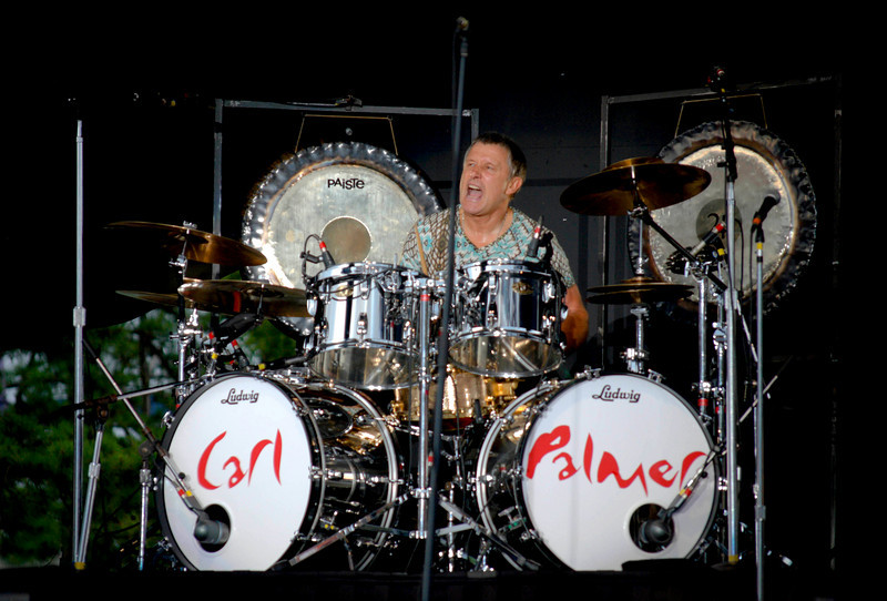 Carl Palmer Asia drummer and legendary member of ELP live at Great Adventure in Jackson NJ, on July 26, 2009.