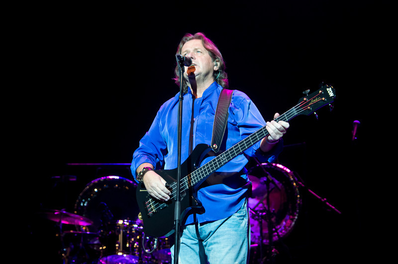 John Wetton lead vocalist, bass guitar and founding member of ASIA on stage at The Count Basie Theater in Red Bank, New Jersey during the 2012 World Tour. John was also a member of the legendary progressive rock groups KIng Crimson, UK and Roxy Music to mention a few.