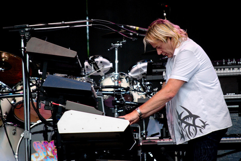 Geoff Downes, Asia keyboardist live at Great Adventure in Jackson , NJ on July 26, 2009.